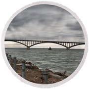 Peace Bridge Round Beach Towel