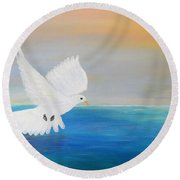 Peace Descending Round Beach Towel