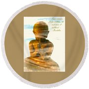 Peace From Within Round Beach Towel