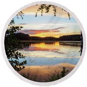 Peace In Nature Round Beach Towel