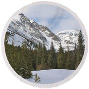 Peace In The Winter 2 Round Beach Towel