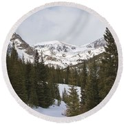 Peace In The Winter 4 Round Beach Towel