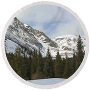 Peace In The Winter Round Beach Towel