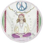 Peace Meditation Round Beach Towel