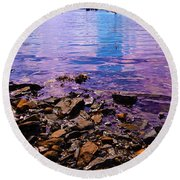 Peace Of Colors  Round Beach Towel