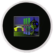 Peace Offering Round Beach Towel
