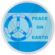 Peace On Earth 3 Round Beach Towel