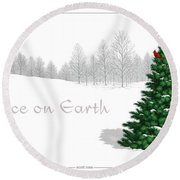 Peace On Earth Round Beach Towel by Scott Ross