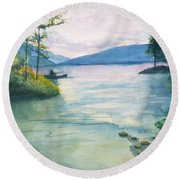 Peace On The Water  Round Beach Towel