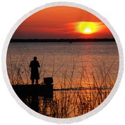 Peace Over The Water Round Beach Towel