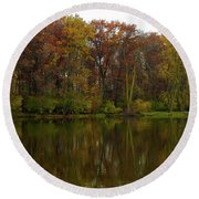 Peace Reflected Round Beach Towel