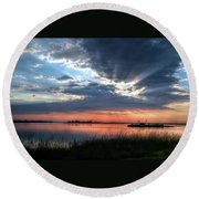 Peace Round Beach Towel by Ronda Ryan