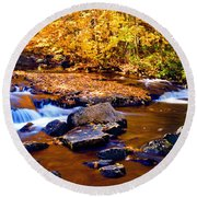 Peaceful Autumn Afternoon  Round Beach Towel
