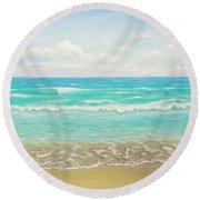 Peaceful Beach Round Beach Towel by Jimmie Bartlett