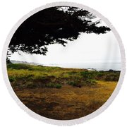 Peaceful Coast Round Beach Towel by Russell Keating