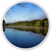 Round Beach Towel featuring the photograph Peaceful Dream by Douglas Stucky