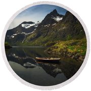 Peaceful Lofoten Round Beach Towel