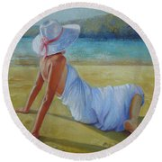 Peaceful Moments Round Beach Towel
