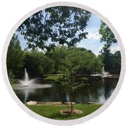 Peaceful Parkside Round Beach Towel