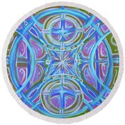 Peaceful Patience Round Beach Towel by Jeanette Jarmon