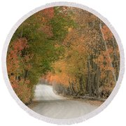 Round Beach Towel featuring the photograph Peaceful Sierra Morning by Sandra Bronstein