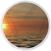 Peaceful Sunrise Round Beach Towel