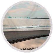 Peaceful Sunset Holgate Round Beach Towel