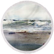 Peaceful Surf Round Beach Towel