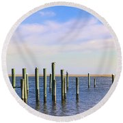 Round Beach Towel featuring the photograph Peaceful Tranquility by Colleen Kammerer