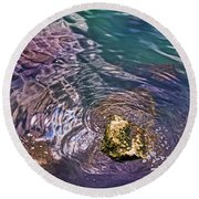 Peaceful Water1 Round Beach Towel