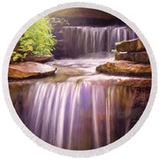 Peaceful Waters Round Beach Towel