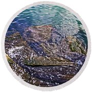 Peaceful Waters2 Round Beach Towel