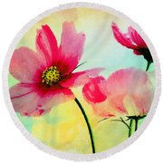 Round Beach Towel featuring the digital art Peacefulness by Klara Acel