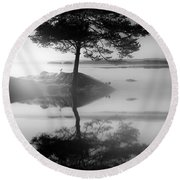 Round Beach Towel featuring the photograph Peacemakers Hope by Rose-Maries Pictures