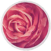 Blooms And Petals Round Beach Towel