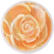 Peach Melba Round Beach Towel