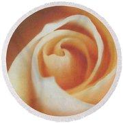 Peach Swirl Squared Round Beach Towel