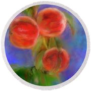 Peachy Keen Round Beach Towel by Colleen Taylor