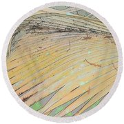 Peachy Palm Round Beach Towel