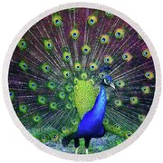 Peacock Series 9801 Round Beach Towel