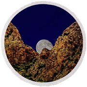 Peak Full Moon H03 Round Beach Towel
