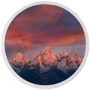 Peak Sunrise Round Beach Towel