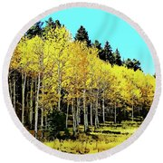 Peak To Peak Fall Glory Round Beach Towel by Joseph Hendrix