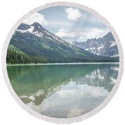 Round Beach Towel featuring the photograph Peaks At Lake Josephine by Margaret Pitcher