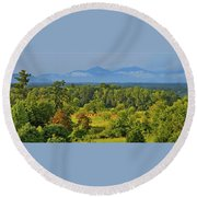 Peaks Of Otter After The Rain Round Beach Towel
