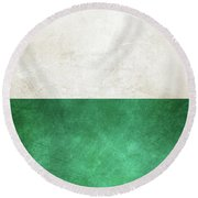 Pearl And Emerald  Round Beach Towel