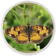 Pearl Crescent Round Beach Towel