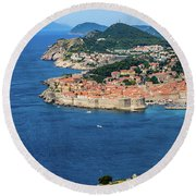 Pearl Of The Adriatic, Dubrovnik, Known As Kings Landing In Game Of Thrones, Dubrovnik, Croatia Round Beach Towel