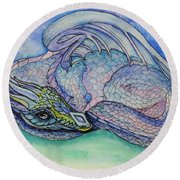 Pearlescence Round Beach Towel