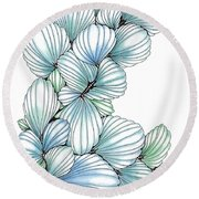 Pearlescent Plume Round Beach Towel